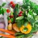 Fresh vegetable on wooden background
